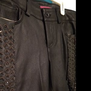 NWTs Alice + Olivia Leather beaded pants